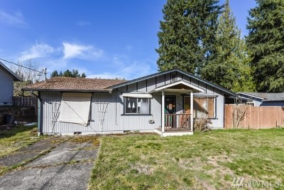 Puyallup WA Single Family Home Contingent: $174,500