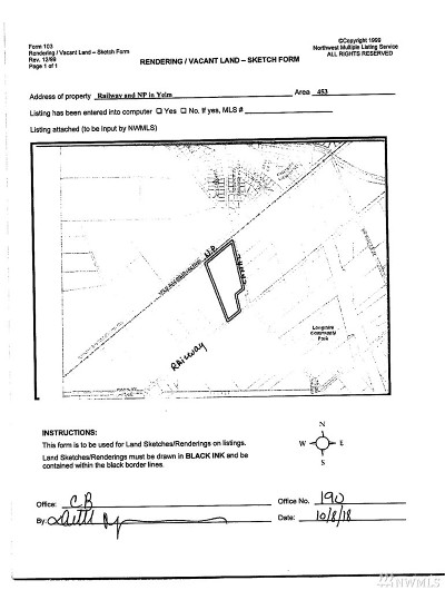 Yelm Residential Lots & Land For Sale: Railway & Np