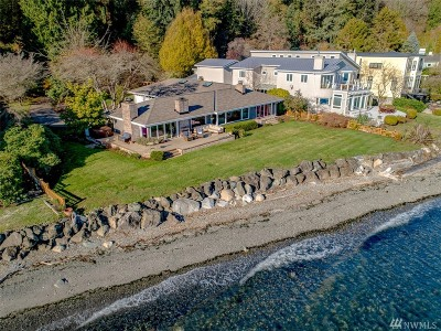 Bainbridge Island Single Family Home Pending Inspection: 4812 Rockaway Beach Rd NE