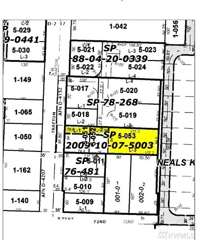 Tacoma Residential Lots & Land For Sale: 7027 S Trafton St