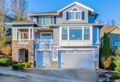 Issaquah Single Family Home For Sale: 697 NW Bear Ridge Dr