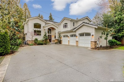 Bellevue WA Single Family Home For Sale: $2,960,000