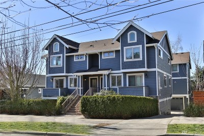 Seattle Single Family Home For Sale: 3827 Ashworth Ave N #B