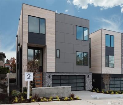 Kirkland Condo/Townhouse For Sale: 10123 NE 60th Street (Unit 2)