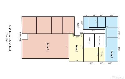 Tacoma Rental For Rent: 6430 Tacoma Mall Blvd #2ndFl