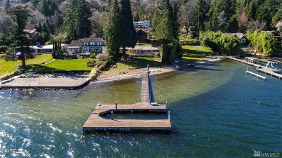 Mercer Island Single Family Home For Sale: 6454 E Mercer Wy