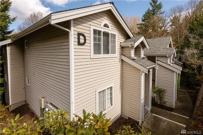 Renton Condo/Townhouse For Sale: 2300 Jefferson Ave NE #D215