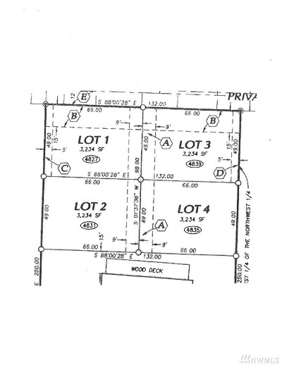 Lacey Residential Lots & Land For Sale: 4827 43rd Lane SE