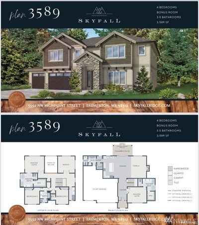 Bremerton Single Family Home For Sale: 5516 Muddy Paws (Lot 17) Ct