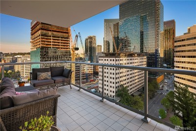 Seattle Condo/Townhouse For Sale: 588 Bell St #1403S