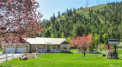 Chelan County, Douglas County Single Family Home For Sale: 7915 Entiat River Rd