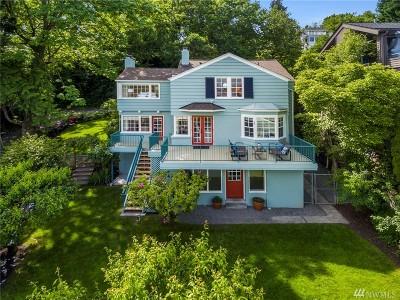 Seattle Single Family Home For Sale: 1702 Lake Washington Blvd