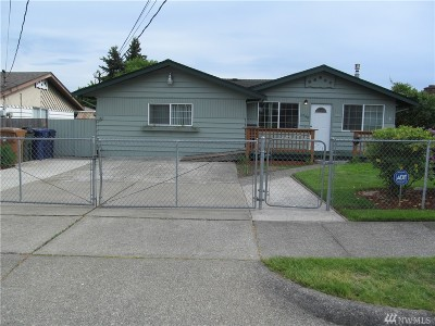 Tacoma Single Family Home For Sale: 1760 S 43rd St