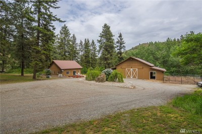 Chelan County, Douglas County Single Family Home For Sale: 6393 Stemilt Creek Rd Rd SE