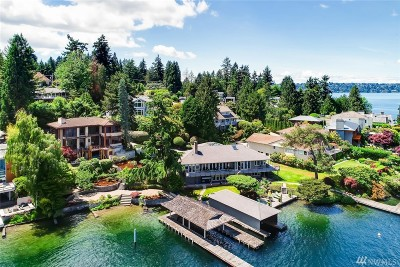 Mercer Island WA Single Family Home For Sale: $4,999,000