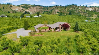 Chelan County Single Family Home For Sale: 8551 Larson Rd
