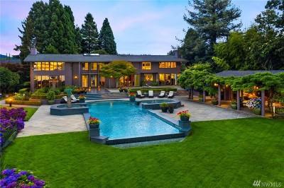 Bellevue WA Single Family Home For Sale: $7,000,000