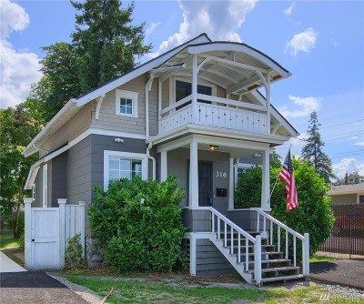 Tacoma Single Family Home For Sale: 316 120th St S