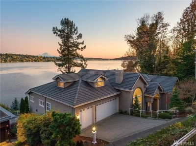 Mercer Island WA Single Family Home For Sale: $5,180,000