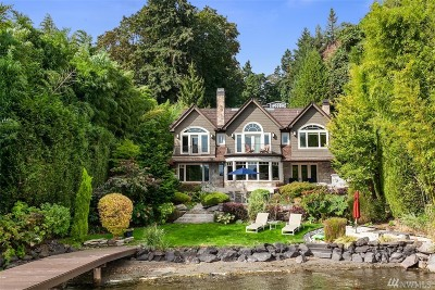Mercer Island Single Family Home For Sale: 6430 E Mercer Way