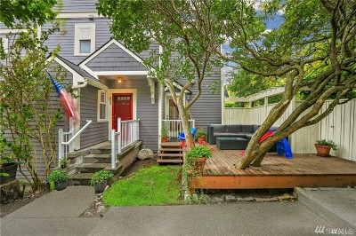 Seattle Single Family Home For Sale: 553 Ward St
