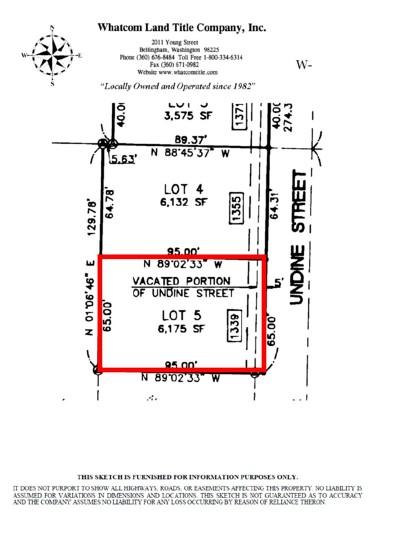 Bellingham Residential Lots & Land Sold: 1339 Undine St