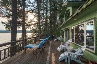 Bonner County, Kootenai County Single Family Home For Sale: 6551 S Lakeside Dr #Harrison