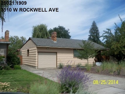 Spokane Single Family Home Ctg-Inspection: 3510 W Rockwell Ave