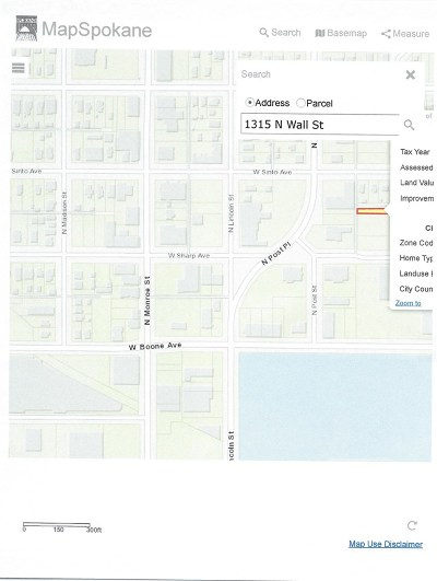 Spokane Residential Lots & Land For Sale: 1315 N Wall St