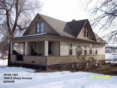 Spokane Single Family Home Bom: 1606 E Sharp Ave