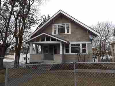 Spokane Single Family Home For Sale: 1518 W 6th Ave