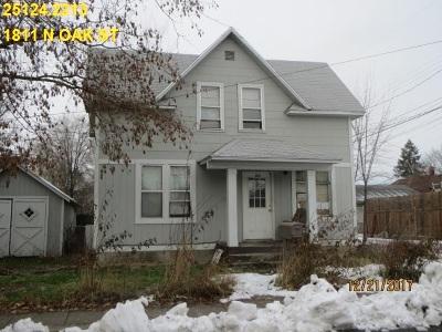 Spokane Single Family Home Ctg-Short Sale: 1811 N Oak St