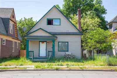 Spokane WA Single Family Home New: $85,000