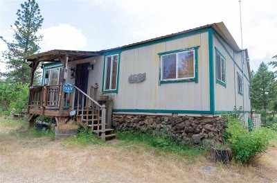 Nine Mile Falls WA Single Family Home For Sale: $85,000