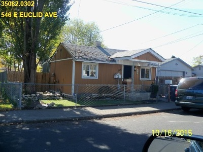 Spokane Single Family Home For Sale: 546 E Euclid Ave