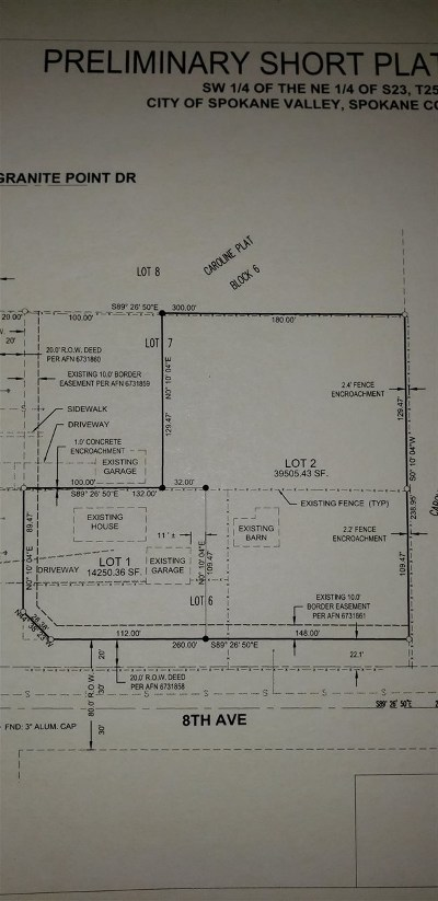 Spokane Valley Residential Lots & Land Ctg-Other: 51xx E 8th Ave