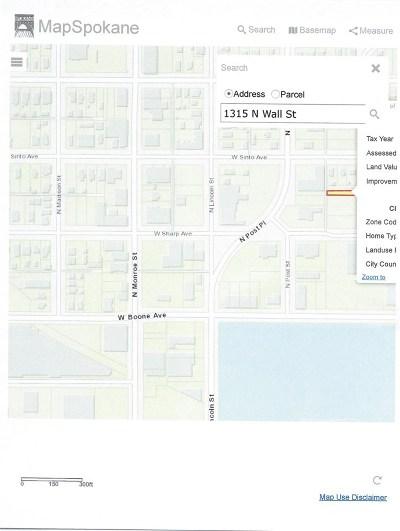 spokane Residential Lots & Land New: 1315 N Wall St