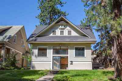 Spokane Single Family Home For Sale: 604 W 14th Ave