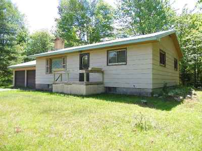 Tomahawk Single Family Home For Sale: W6927 Loop Road