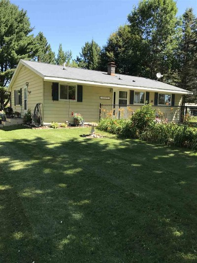 Merrill Single Family Home Active - With Offer: N2676 State Highway 107