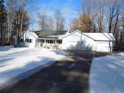 Merrill Single Family Home For Sale: W6658 The Clearing
