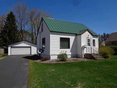 Medford WI Single Family Home For Sale: $82,500