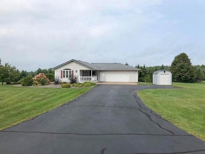 Medford Single Family Home For Sale: N3089 Castle Road