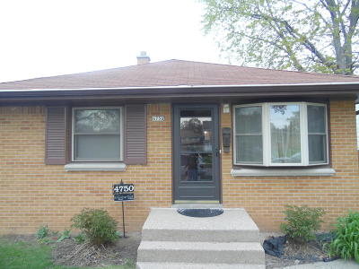 Milwaukee Single Family Home Active Contingent With Offer: 4750 N 73rd St