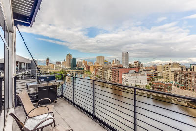 Milwaukee County Condo/Townhouse Active Contingent With Offer: 106 W Seeboth St #910