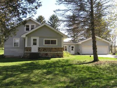 Single Family Home For Sale: S75w35933 Wilton Rd
