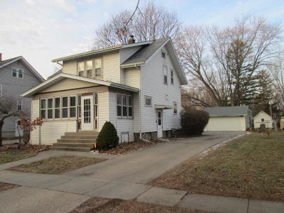 Fort Atkinson WI Single Family Home Active Contingent With Offer: $163,500