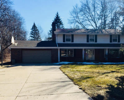 Waukesha County Single Family Home For Sale: N75w22155 Chestnut Hill Rd
