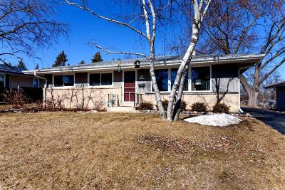 Menomonee Falls Single Family Home Active Contingent With Offer: N84w15046 Menomonee Ave