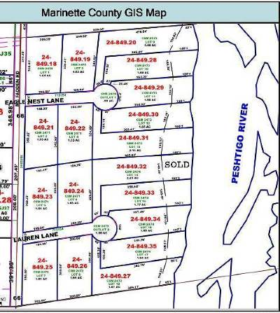 Peshtigo WI Residential Lots & Land For Sale: $14,900